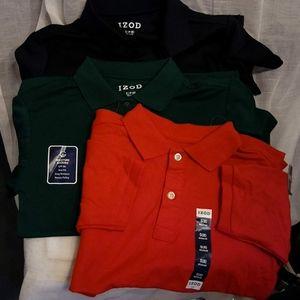 3 IZOD boys POLO shirts NWT